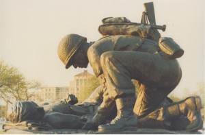 Combat Medic Memorial Statue, by Bill Walling
